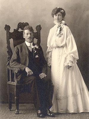 Alice and John Ness wedding portrait